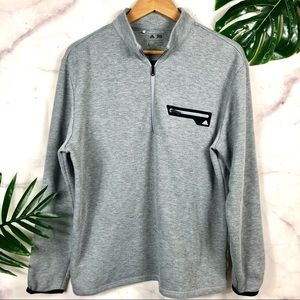 ADIDAS Gray Zip Up Pullover | Large